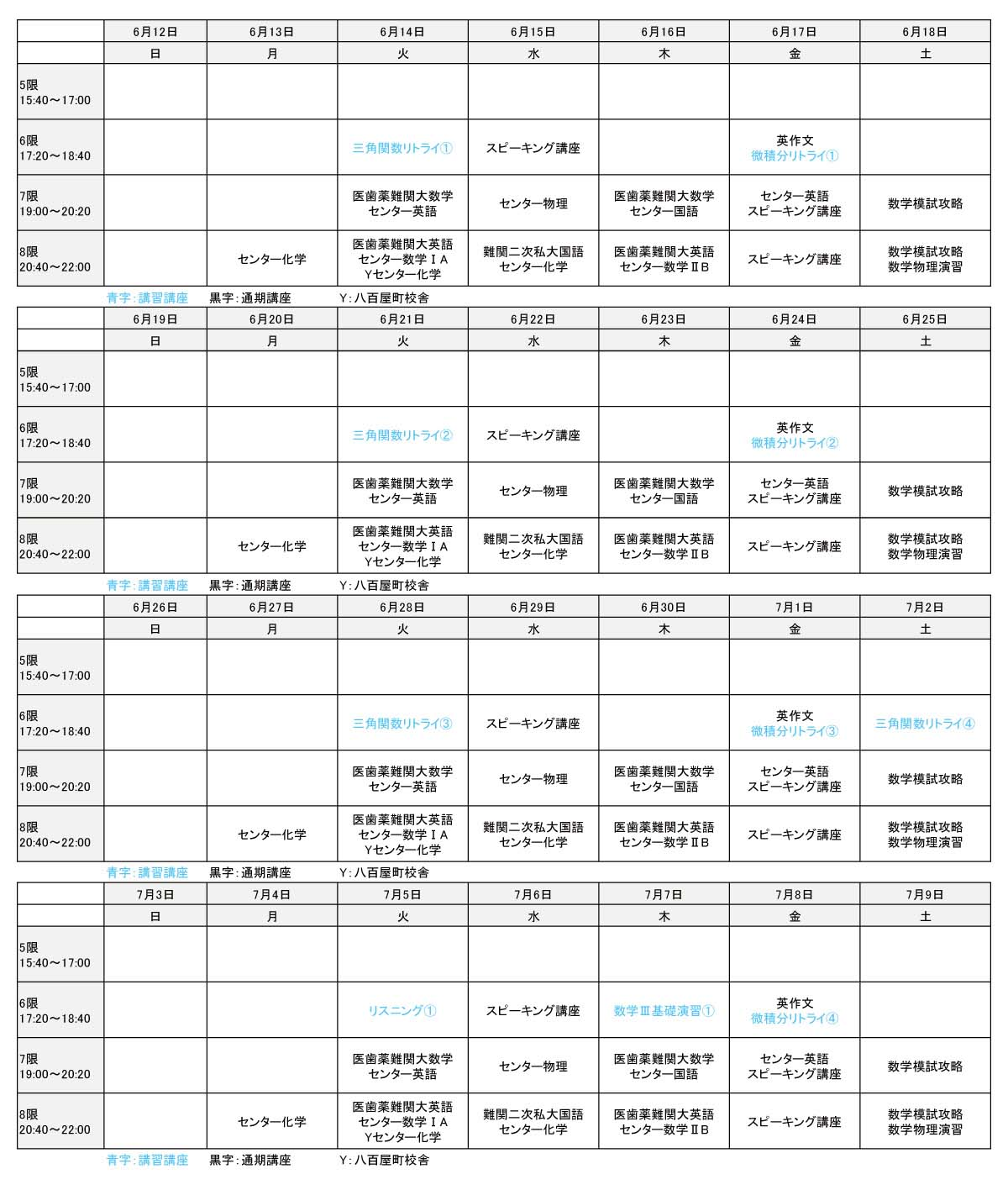 2016年夏期講習会 高3生①