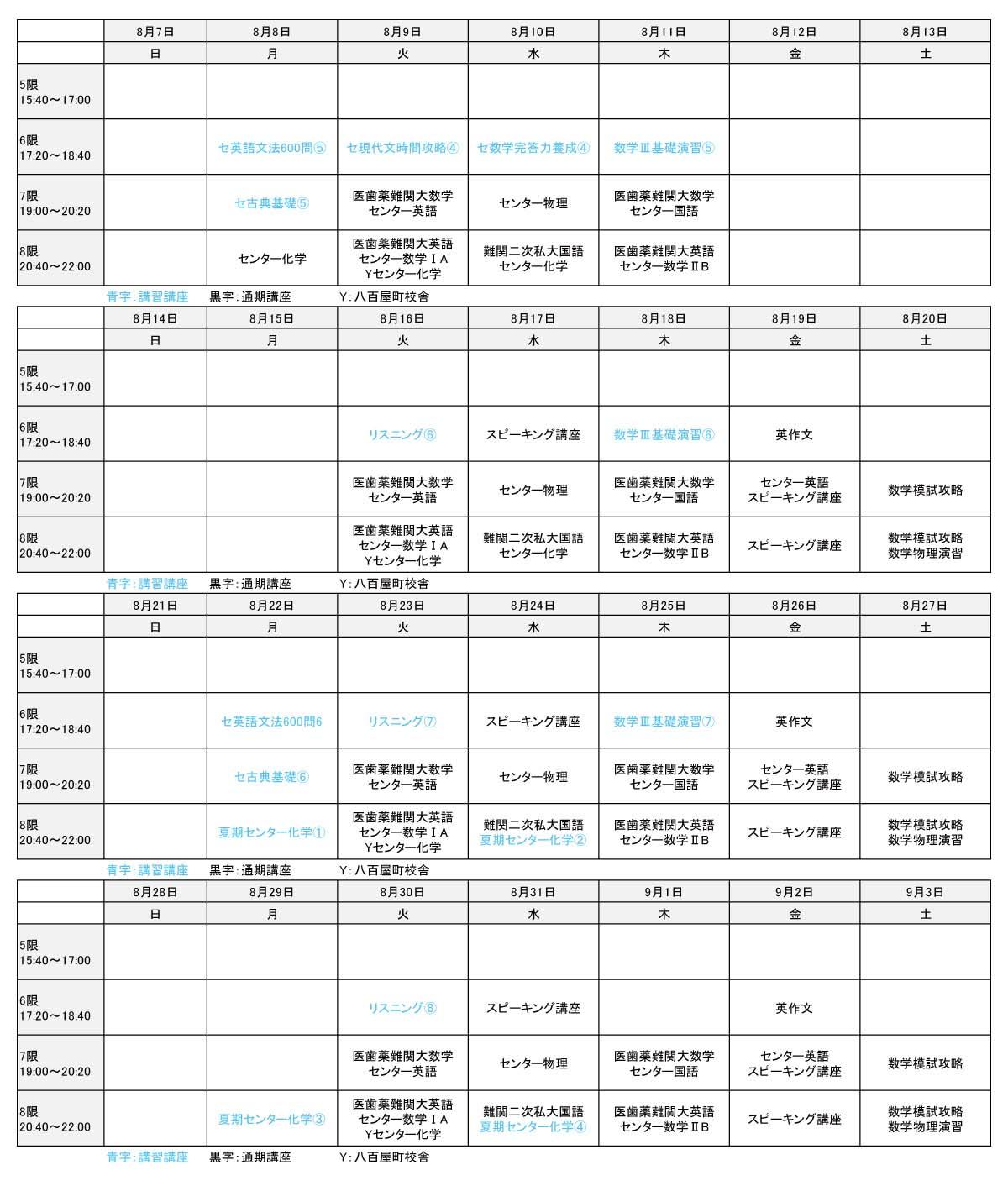 2016年夏期講習会 高3生③